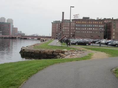 South Bay Harbor Trail along Fort Point Channel